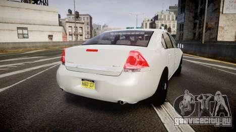 Chevrolet Impala Unmarked Police [ELS] tw для GTA 4 вид сзади слева