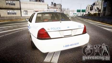 Ford Crown Victoria CNPS [ELS] для GTA 4 вид сзади слева