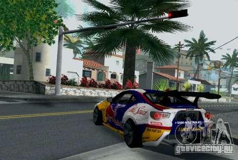 Toyota GT86 Red Bull для GTA San Andreas вид сзади слева