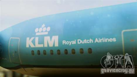 Airbus A330-200 KLM New Livery для GTA San Andreas вид сзади