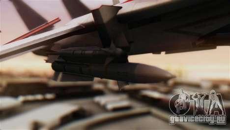 F-14D Tomcat Macross Red для GTA San Andreas вид справа