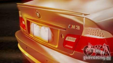 BMW M3 E46 v2 для GTA San Andreas вид сбоку