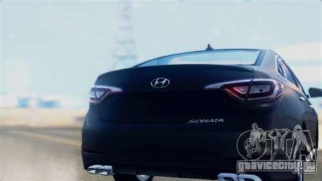 Hyundai Sonata 2015 для GTA San Andreas вид справа