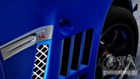 Nissan GT-R (R35) GT3 2012 PJ2 для GTA San Andreas вид справа