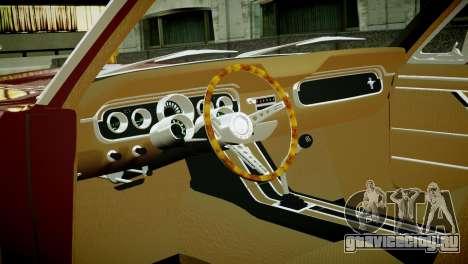 Ford Mustang 1965 для GTA 4 вид сзади