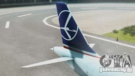 LOT Polish Airlines Boeing 747-400 для GTA San Andreas вид сзади слева