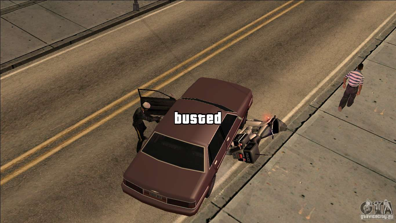GTA V Wasted and Busted Sound CLEO для GTA San Andreas