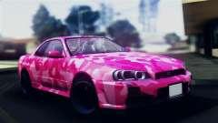 Nissan Skyline R34 Camo Drift для GTA San Andreas