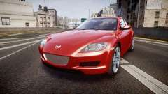Mazda RX-8 2006 v3.2 Advan tires для GTA 4