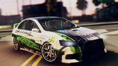 Mitsubishi Lancer Evo X 2011 Rally Bohemia для GTA San Andreas