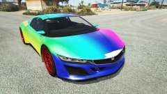 Dinka Jester (Racecar) Rainbow для GTA 5