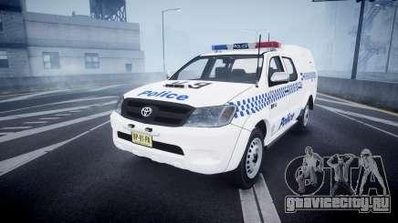Toyota Hilux NSWPF [ELS] scoop для GTA 4