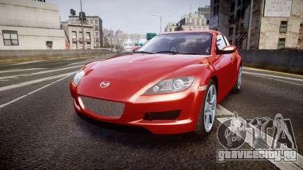 Mazda RX-8 2006 v3.2 Advan tires для GTA 4
