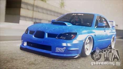 Subaru Impreza WRX STI B.O. Yapım для GTA San Andreas