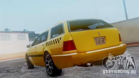 Stratum Taxi для GTA San Andreas вид сзади