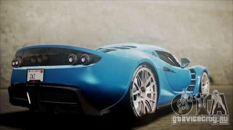 Hennessey Venom GT 2012 U.S.A American для GTA San Andreas вид слева