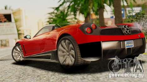 Pegassi Osyra для GTA San Andreas вид слева