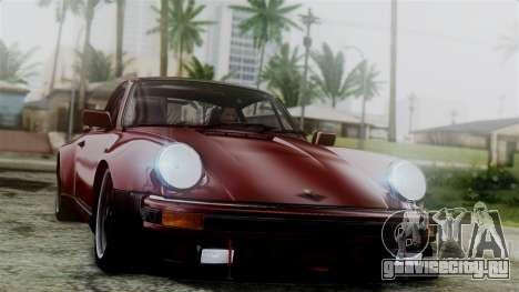 Porsche 911 Turbo (930) 1985 Kit C для GTA San Andreas салон