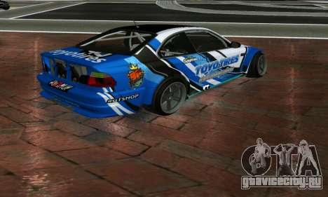 BMW M3 E46 ToyoTires GT-SHOP для GTA San Andreas вид слева
