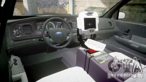 Ford Crown Victoria Bohan Police [ELS] для GTA 4 вид сзади