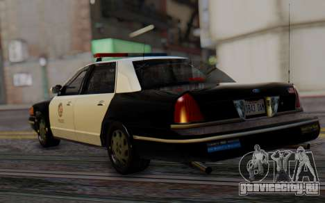 Ford Crown Victoria LSPD для GTA San Andreas вид слева