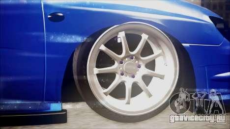 Subaru Impreza WRX STI B.O. Yapım для GTA San Andreas вид сзади слева