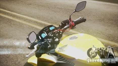 Honda CB650F Amarela для GTA San Andreas вид сзади слева