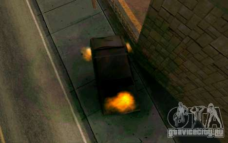 Burning car mod from GTA 4 для GTA San Andreas третий скриншот