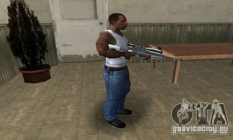 Full Silver Sniper Rifle для GTA San Andreas третий скриншот