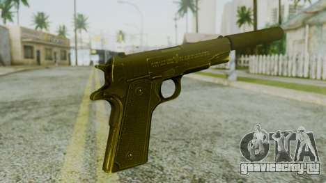 Silenced M1911 Pistol для GTA San Andreas второй скриншот