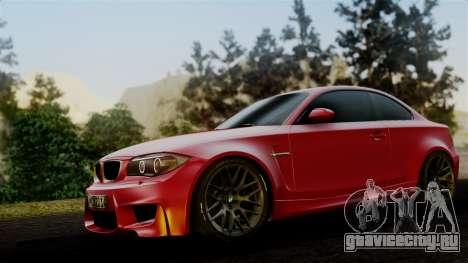 BMW 1M E82 v2 для GTA San Andreas вид сзади слева