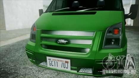 Ford Transit SSV 2011 для GTA San Andreas вид справа