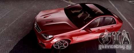 Mercedes-Benz C63 AMG 2013 для GTA San Andreas вид слева