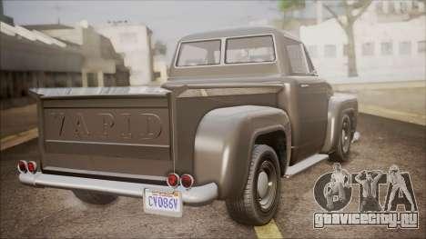 GTA 5 Vapid Slamvan Pickup для GTA San Andreas вид слева