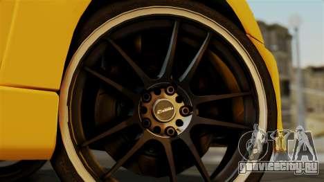 Mitsubishi Lancer Evolution 2015 для GTA San Andreas вид сзади слева