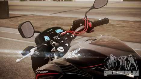 Honda CB650F Pretona для GTA San Andreas вид сзади