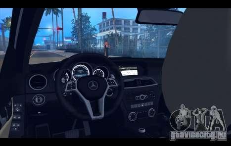 Mercedes-Benz C63 AMG 2013 для GTA San Andreas салон