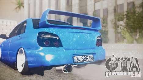 Subaru Impreza WRX STI B.O. Yapım для GTA San Andreas вид сзади