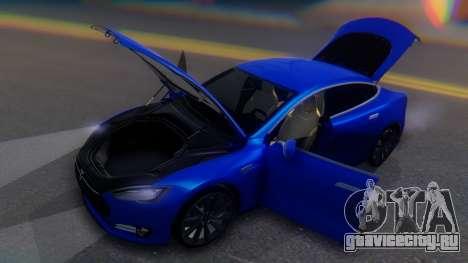 Tesla Model S для GTA San Andreas вид сбоку