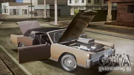 GTA 5 Vapid Chino IVF для GTA San Andreas вид изнутри