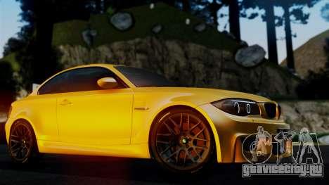 BMW 1M E82 v2 для GTA San Andreas вид сбоку