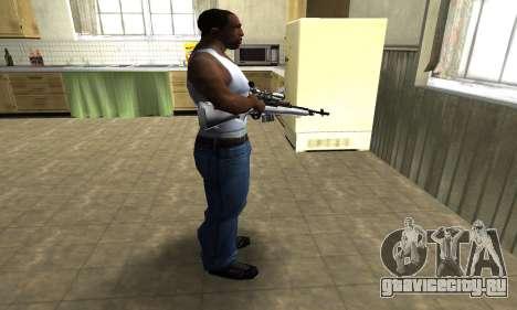 Silver Sniper Rifle для GTA San Andreas третий скриншот