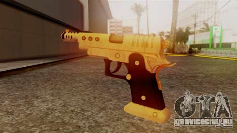 Chrome Hammer Pistol для GTA San Andreas второй скриншот