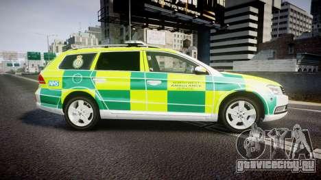 Volkswagen Passat B7 North West Ambulance [ELS] для GTA 4 вид слева
