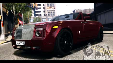 Rolls-Royce Phantom 2009 Coupe v1.0 для GTA 4 вид слева
