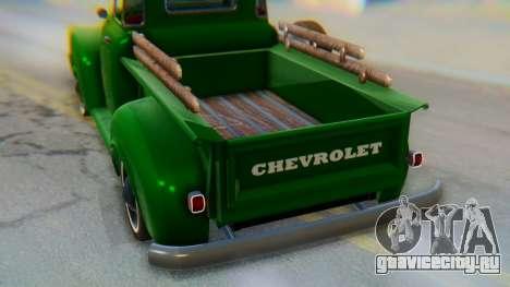 Chevrolet 3100 1951 Work для GTA San Andreas вид изнутри