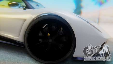 GTA 5 Pegassi Osiris IVF для GTA San Andreas вид сзади