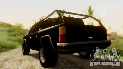 FBI Rancher Offroad для GTA San Andreas вид слева