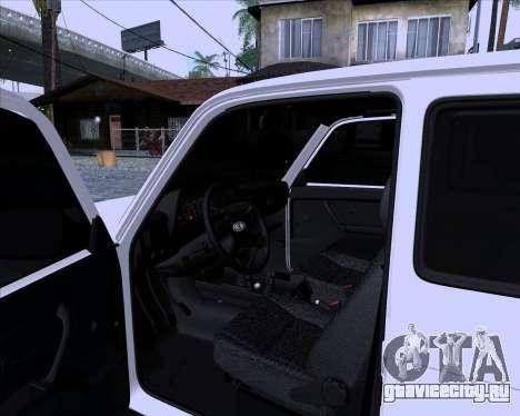 ВАЗ 2121 Нива 4x4 для GTA San Andreas вид сзади