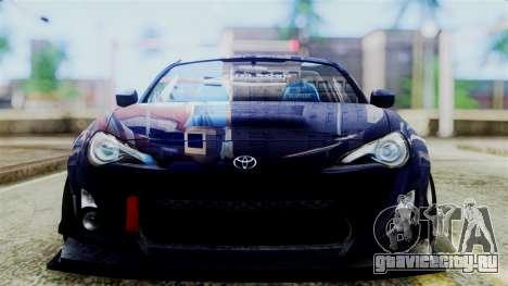 Toyota GT86 для GTA San Andreas